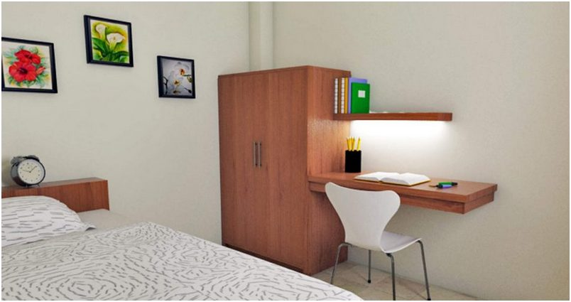 16 ide dekorasi dan menata kamar kost makin keren 2017