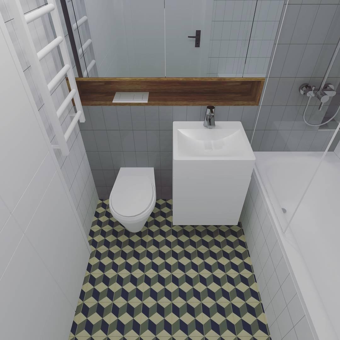 desain kamar mandi ukuran 2x1 5