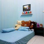 Desain Kamar Tidur Anak Perempuan Lesehan Warna Biru Terbaru Cocok Untuk Kamar Anak Kost