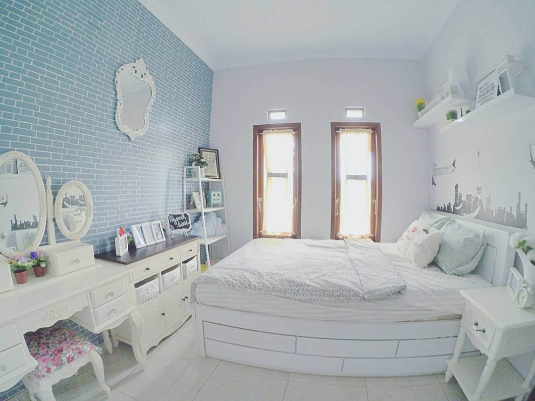 desain kamar tidur anak perempuan shabby chic minimalis
