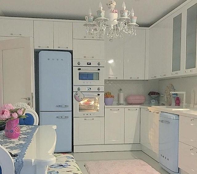 Desain Model Dapur Shabby Chic Terbaru