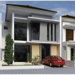 Desain Rumah Minimalis 2 Lantai Type 45 Terbaru Dengan Pintu Kaca Dan Penataan Jendela Yang Keren