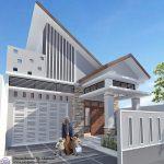 Desain Rumah Minimalis Tampak Depan Dengan Batu Alam Dengan Atap Miring