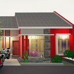 Desain Rumah Minimalis Type 36 1 Lantai Warna Merah