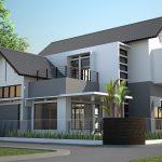 Desain Rumah Modern Minimalis Tampak Depan Samping