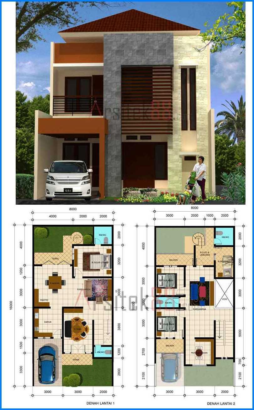 62 Desain Rumah Minimalis Modern 2 Lantai 3d Desain