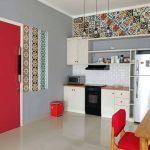 Gambar Dapur Sederhana Dengan Keramik Dinding Unik