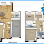 Gambar Denah Rumah 2 Lantai Minimalis 4 Kamar Tidur