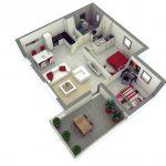 Gambar Denah Rumah Minimalis 2 Kamar Tidur Terbaru Untuk Type 36 Dan Type 45