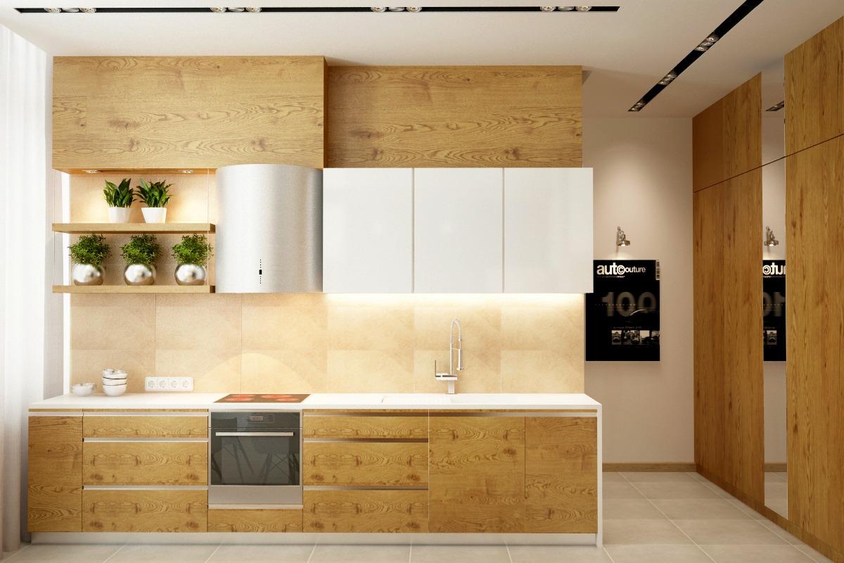 Gambar kitchen set dapur minimalis dari kayu