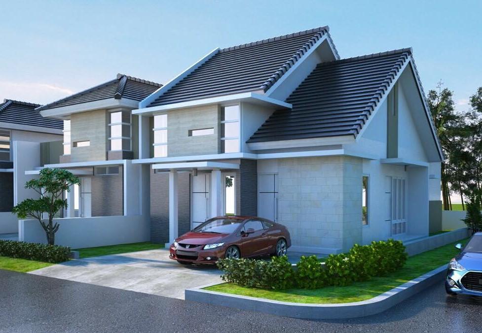 30 Gambar Tampak Depan Rumah Minimalis 1 dan 2 Lantai 2020