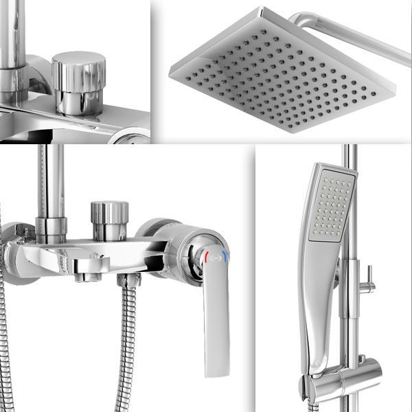 AER Mixer Bathub Shower Set (Wall+Hand Shower+Bathub) Panas-Dingin, Kran Air, Keran MBS-1