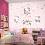 Harga Wallpaper Dinding Motif Hello Kitty