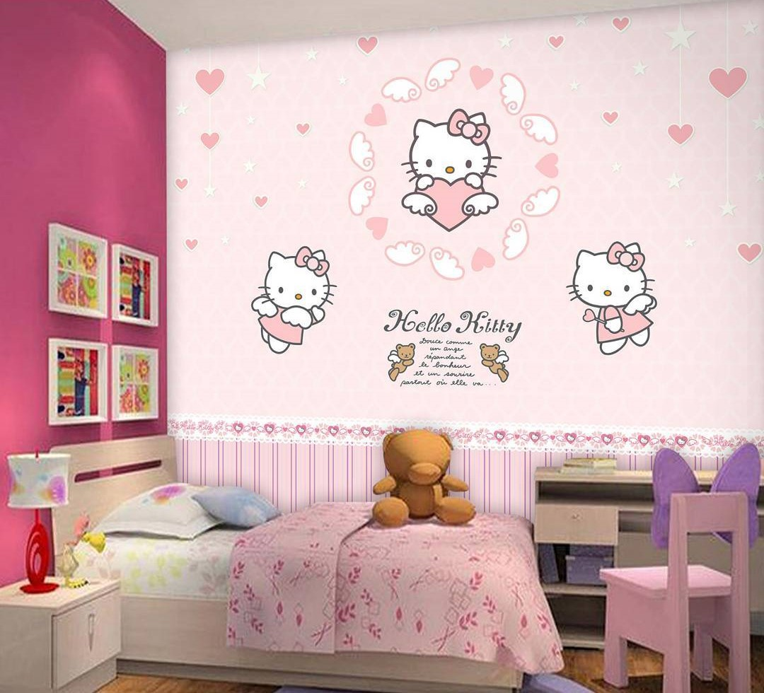 Harga Wallpaper Dinding Motif Hello Kitty