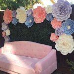 Hiasan Dinding Dari Bunga Kertas Buatan Sendiri