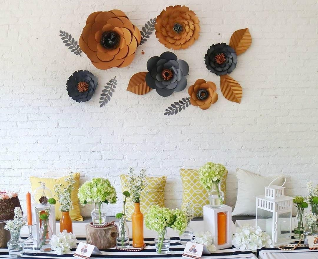 Hiasan Dinding Ruang Atau Ulang Tahun Berbentuk Bunga
