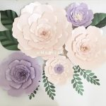 Hiasan Dinding Ruang Tamu Berbentuk Bunga Buatan Sendiri Dari Kertas