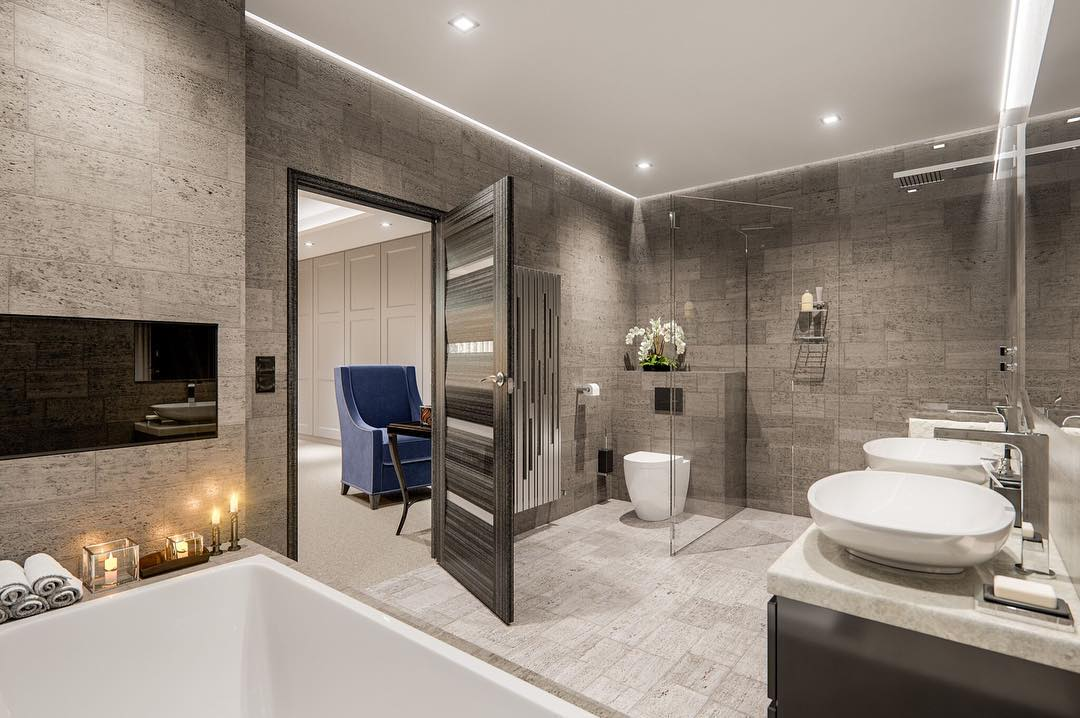 22 desain kamar mandi mewah modern terbaru 2019 keren for Dekor kamar hotel ultah