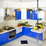 Kitchen Set Minimalis Modern Warna Biru