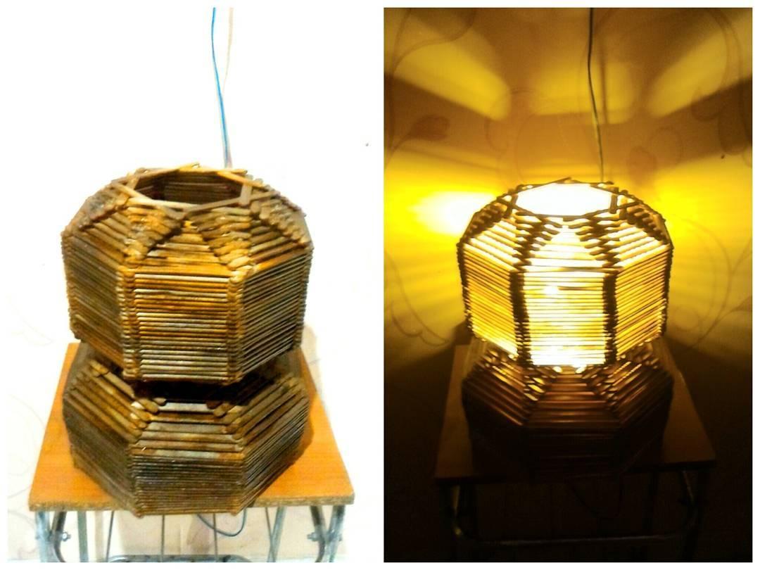 Ide dan Cara Membuat Lampu Hias Dari Stik Es Krim Beserta Gambarnya ...