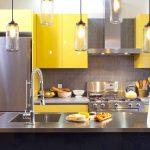 Model Dapur Minimalis Modern Cantik Warna Kuning