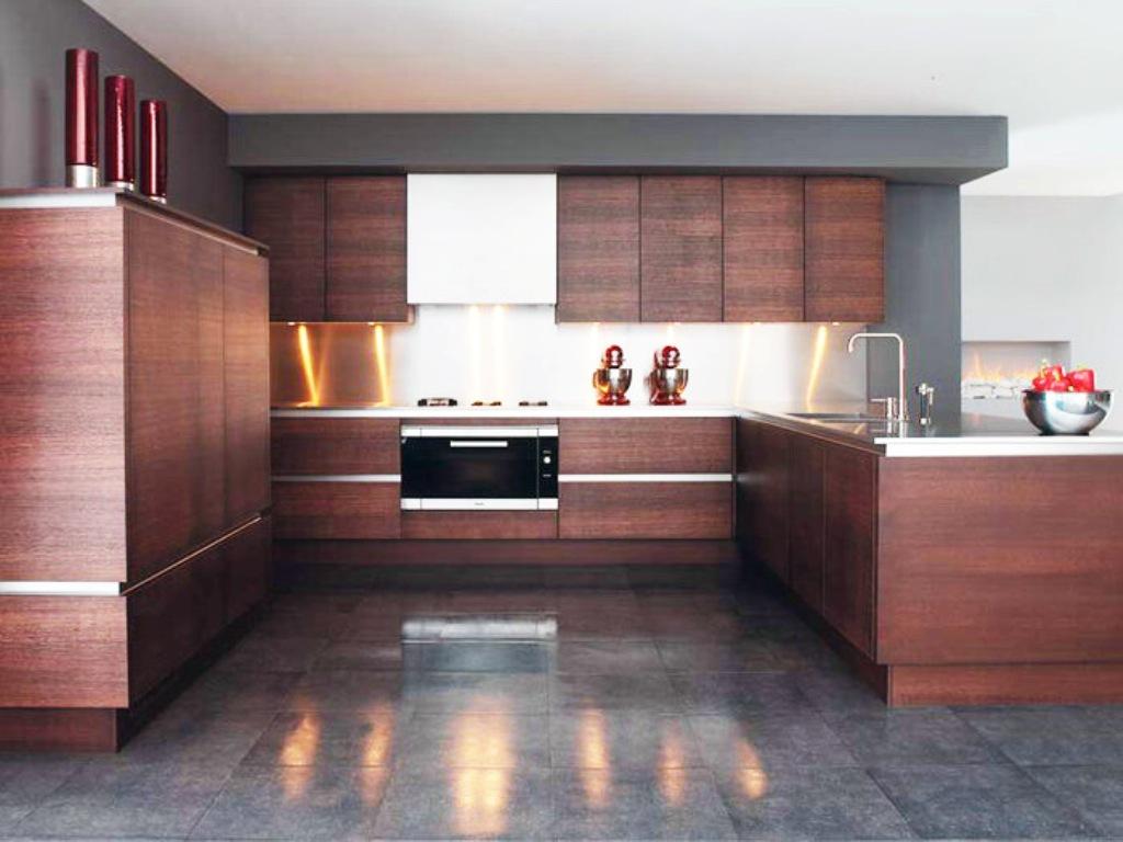 100 gambar design kitchen set minimalis custom modern for Model kitchen set minimalis modern