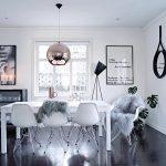 Model Meja Makan Modern Dengan Kursi Cantik Dan Lampu Yang Unik Untuk Ruang Makan Minimalis
