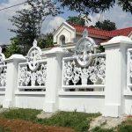 Model Pagar Tembok Rumah Mewah Dengan Paduan Besi