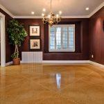 Motif Keramik Lantai Ruang Tamu Cokelat