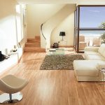 Motif Lantai Kayu Parquet Ruang Tamu Sederhana