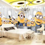 Motif Wallpaper Dinding Kamar 3d Minion