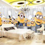 Motif Wallpaper Dinding Kamar 3d Minion