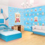 Motif Wallpaper Dinding Kamar Anak Unik