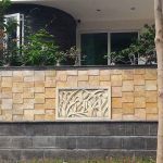 Pagar Batu Alam Rumah Minimalis Sebagai Model Pagar Tembok Batu Alam