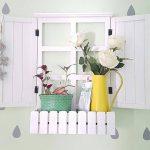 Rak Dinding Berbentuk Jendela Untuk Ruang Tamu
