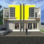 Tampak Depan Rumah Minimalis 2 Lantai Lebar 6 Meter