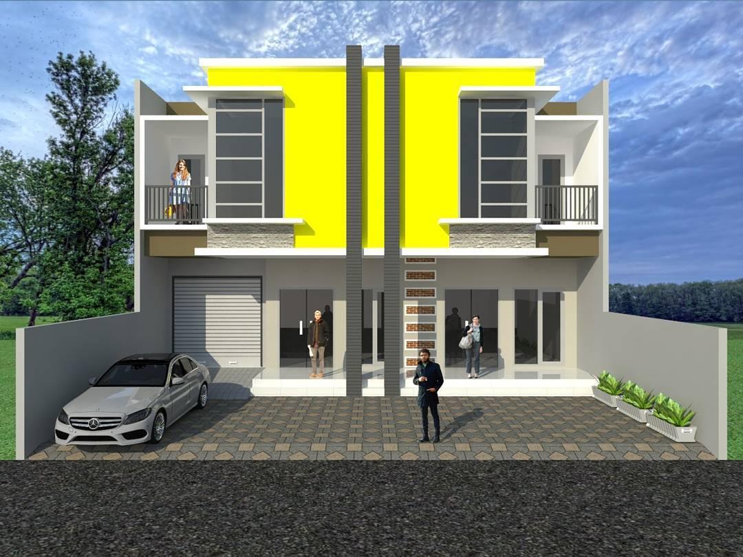 Rumah Minimalis Atap Warna Merah  Gambar Om