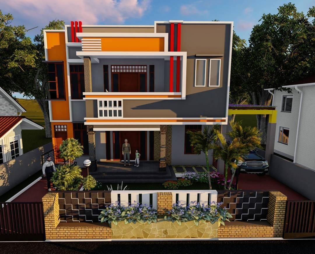 64 Desain Rumah Minimalis 2 Lantai Tanpa Atap Desain
