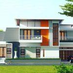 Tampak Depan Rumah Minimalis 2 Lantai Mewah Terbaru