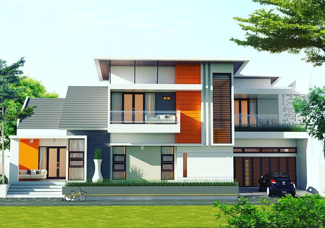 30 Gambar Tampak Depan Rumah Minimalis 1 dan 2 Lantai 2018 Terbaru  Dekor Rumah