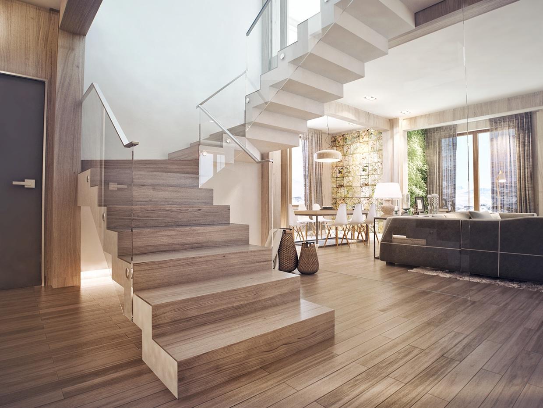 Foto tangga rumah mewah