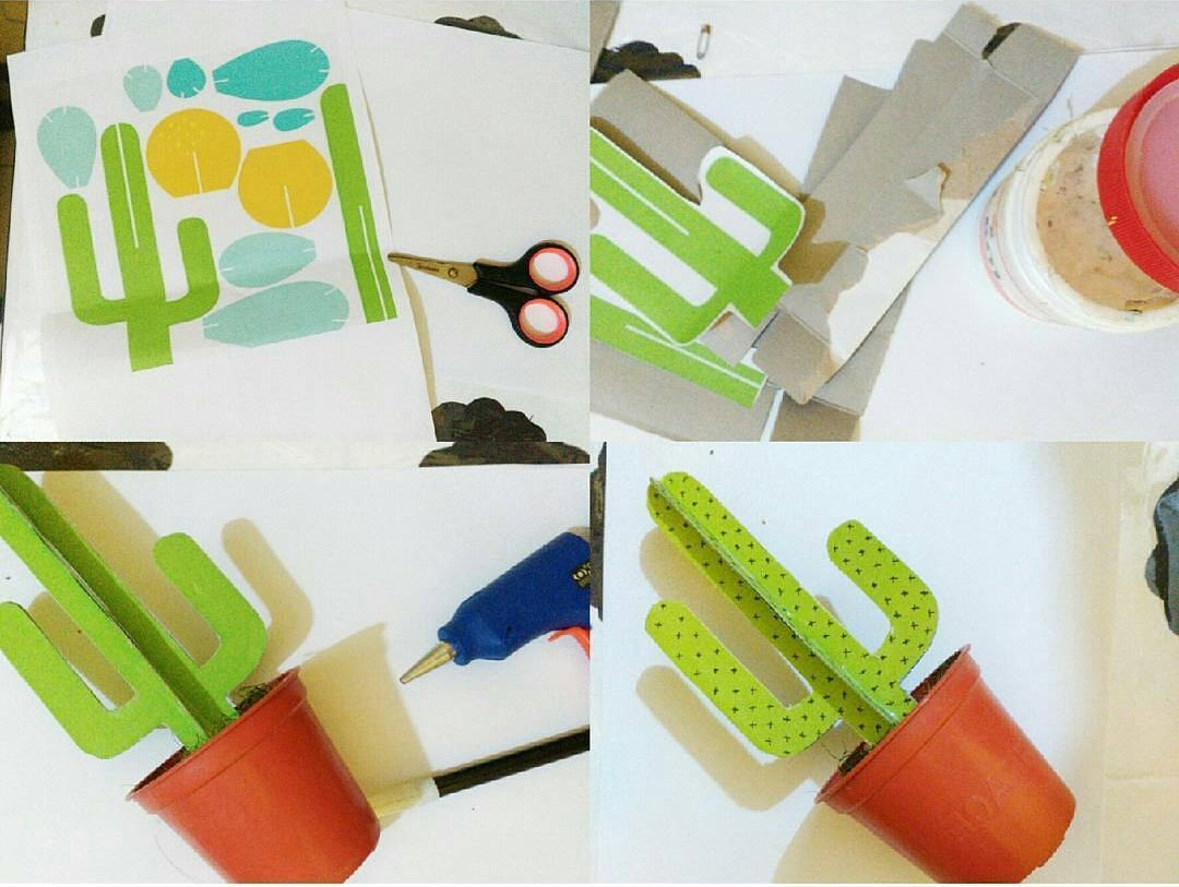 Tutorial Cara Membuat Kaktus Dari Kertas Karton Untuk Hiasan Rumah Buatan Sendiri