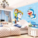 Wallpaper Dinding 3d Motif Doraemon Terbaru