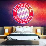 Wallpaper Dinding Kamar Anak Laki Laki Bola Bayern Munchen