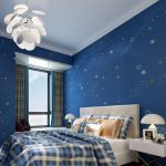 Wallpaper Dinding Kamar Tidur Anak Laki Laki Dengan Motif Bintang Bintang