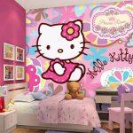 Wallpaper Dinding Kamar Tidur Kreatif Unik Untuk Kamar Anak Perempuan 3D