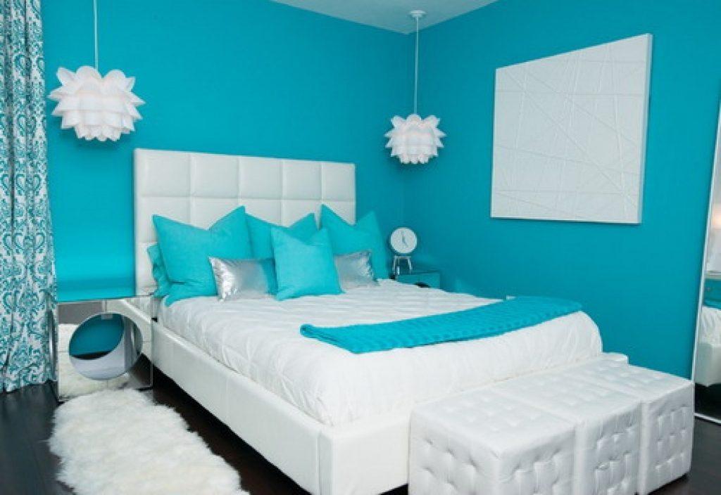 Warna Cat Tembok Biru Untuk R Tidur Minimalis