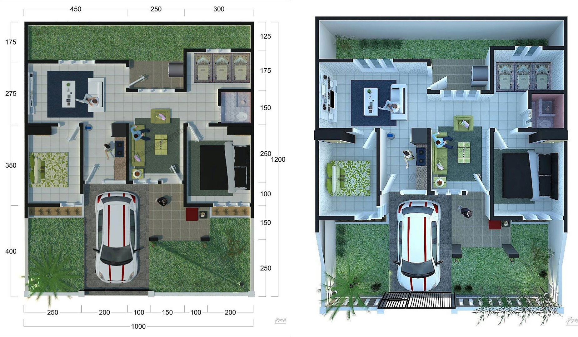 9 Gambar Denah Rumah Sederhana Lengkap 2019 Type 36 45 Dekor Rumah