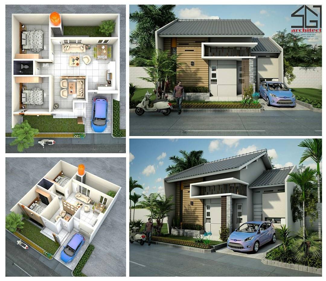 Gambar Denah Rumah Sederhana Lengkap   Dekor Rumah