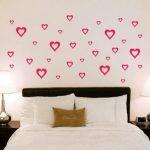 Desain Dinding Kamar Tidur Berbentuk Love Buatan Sendiri